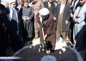 مراسم کلنگ زنی مسجد تخریب شده روستای زلزله زده امام عباس / گزارش تصویری