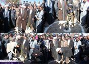 سفر یک روزه ماموستا قادری و اعضای ستاد وحدت پاوه به مناطق زلزله زده و مراسم کلنگ زنی مسجد تخریب شده روستای زلزله زده امام عباس / گزارش تفصیلی