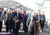 دیدار ماموستا قادری با مردم روستای زلزله زده شیخ صالح / گزارش تصویری